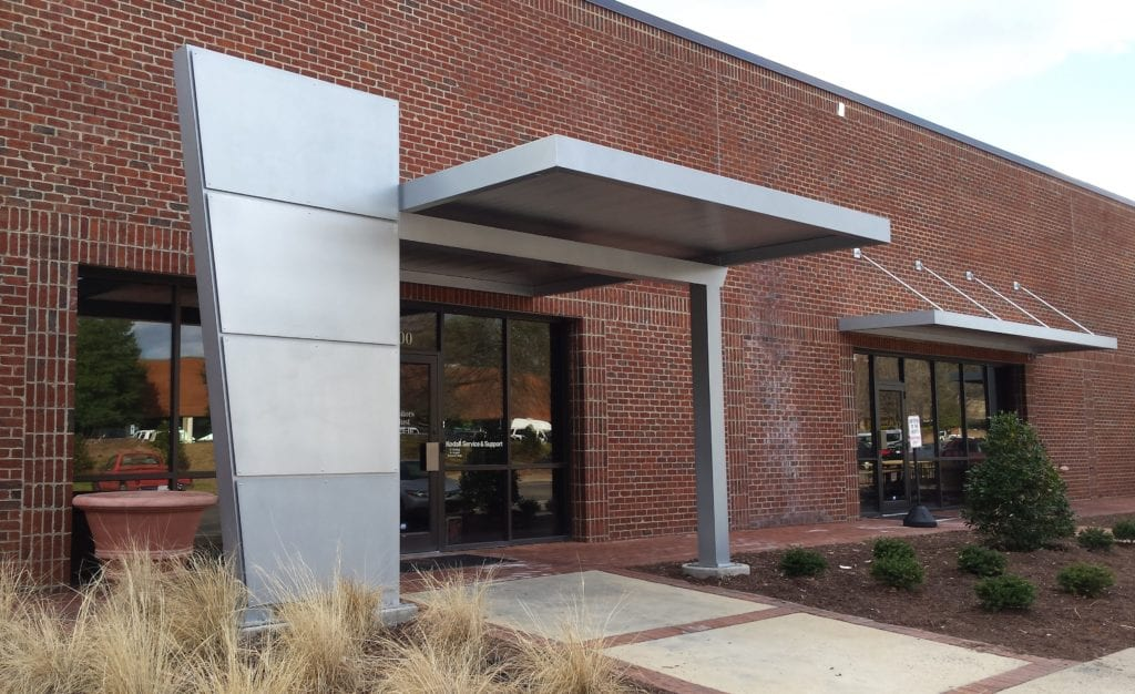 Aluminum Awnings With Overhead Support Raleigh Awning
